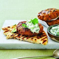 Tandoori chicken burger with raita - Chatelaine.com