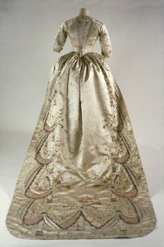 Dress created by Rose Bertin and probably worn by Marie Antoinette. The dress belongs to the Royal Ontario Museum