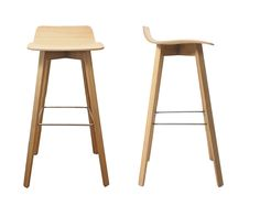 Bar stool / contemporary / wooden / upholstered - MAVERICK - Kff. Design