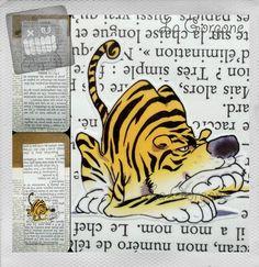 Tigre... Marque page. Recyclage par la Gorgone. : Marque-pages par la-gorgone