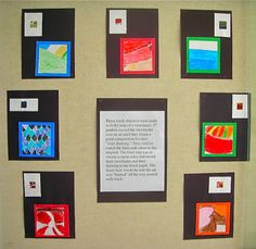 Fine Lines: Mini-Abstracts using a view finder , great for 5th grade