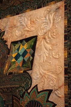 Crown Jewel closeup by Marilyn Badger and Claudia Clark Myersgoogle.com ~ The quilting is awesome.