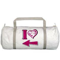 I heart - Pink Arrow Gym Bag