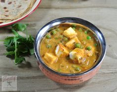 Tofu matar curry ( Tofu and green peas cooked in rich and creamy ...