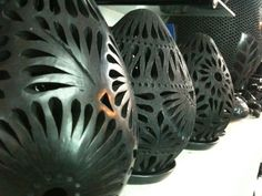 Barro negro de Oaxaca (pottery)- I brought some to Vietnam and luckily they were all save, no broken!