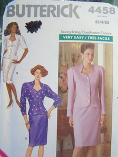 Butterick 4458 Misses' Sewing Pattern Semi Fitted by WitsEndDesign