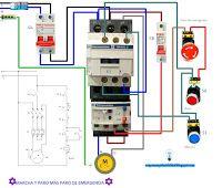 Esquemas eléctricos: Esquema eléctrico marcha paro más marcha de emerge...