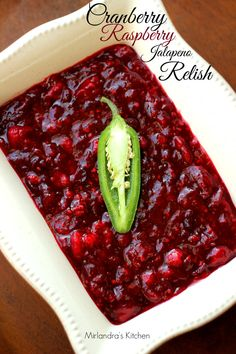 This relish will put a nice little Zip in your Thanksgiving feast! Don't bother with a can of store bought relish when you can make your own in less than 20 minutes and have it taste magnificent. You can even make this more than a week before Thanksgiving so you don't have to fuss on the day of.