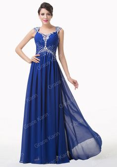 Double Shoulder Elegant A-Line Chiffon Backless Sparkly Beading Long Prom  Dress Blue Formal Evening Dress Gowns China 6189 - BRIDESMAID DRESSES  BRIDAL GOWNS ... 32914514d717