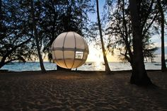 Sleep in a Modern Spherical Tent Floats Among the Trees -