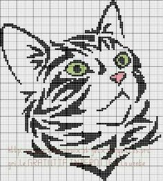 Thrilling Designing Your Own Cross Stitch Embroidery Patterns Ideas. Exhilarating Designing Your Own Cross Stitch Embroidery Patterns Ideas. Cat Embroidery, Cross Stitch Embroidery, Embroidery Patterns, Cross Stitch Charts, Cross Stitch Designs, Cross Stitch Patterns, Silhouette Chat, Crochet Chart, Filet Crochet