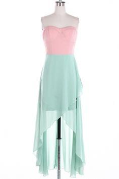 pastel high low dress  #swoonboutique