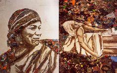 Lixo Extraordinário- por Vic Muniz Waste land by Vic Muniz artist