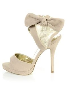Cheeky !! Bow sandals! Love them!
