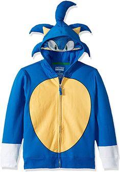 Sega Kids' Little Sonic The Hedgehog Costume Hoodie, Royal, 4 Sonic The Hedgehog Costume, Sonic Costume, Sonic Birthday, Hedgehog Birthday, Hedgehog Cake, 8th Birthday, Happy Birthday, Sonic Party, Distressed Leather Jacket