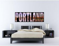 "Portland City Skyline Panoramic Wall Decal Sticker Graphic Removable Reusable Light Purple Night Sky Sunset Dusk Home & Bedroom Decor  Item Size Options (Dimensions)  24"": 8"" Tall x 24"" Wide (inches) 36"": 12"" Tall x 36"" Wide (inches) 48"": 16"" Tall x 48"" Wide (inches)  Not the size you were looking for? You are in luck! Custom orders/sizes are available. If you have an idea, just contact me and I will do my best to make it happen! Price depends on the size of the decal.  **The size in…"