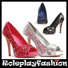 ELLIE SHOES SEXY SEQUINED PEEP TOE PUMPS HEELS | eBay