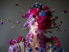 ❀ Flower Maiden Fantasy ❀ women & flowers in art fashion photography - Flower Faces by Kristen Hatgi Sink