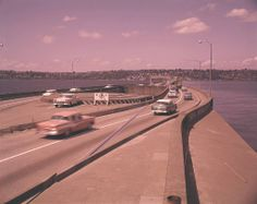 1959 - Cars on Seattle bridge