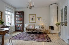 Urban Country Style Interiors in #Swedish Apartment