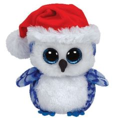 95026433d5b Icicles Blue Owl Beanie Boo - Stuffed Animal by Ty Christmas Beanie Boos