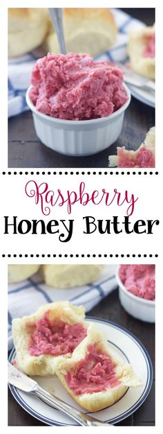 This Raspberry Honey Butter is heavenly and takes rolls and bread to a whole new level. Youll never want to be without it! Canned Butter, Flavored Butter, Homemade Butter, Butter Recipe, Real Food Recipes, Cooking Recipes, Raspberry Recipes, Raspberry Food, Sweet Butter