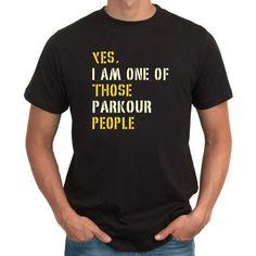 Sì io sono una di quelle persone Parkour t-shirt di Teeburon