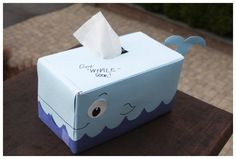 TOO CUTE! Turn a Tissue Box into a Whale - Kids Activity - BabbaCo