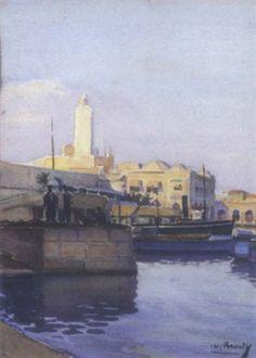 Peinture Algérie - Vue d'Alger by Charles Brouty