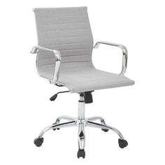 Office Star Mid-Back Executive Office Chair with Arms | AllModern