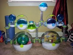 Habitrail OVO dwarf hamster habitat is the spiffiest thing we've seen in a long time. Eash to customize your hamsters cage to meet your space and his needs. Hamster Bin Cage, Hamsters As Pets, Hamster Habitat, Syrian Hamster, Gerbil, Pet Cage, Reptile Accessories, Cute Animal Pictures, Dwarf
