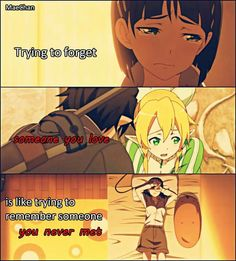 Like the T-Swift song: forgetting him was like trying to know somebody you've never met (but loving him was red) Anime Henti, Sad Anime, Anime Life, I Love Anime, Me Me Me Anime, Sword Art Online, Online Art, Anime Qoutes, Manga Quotes