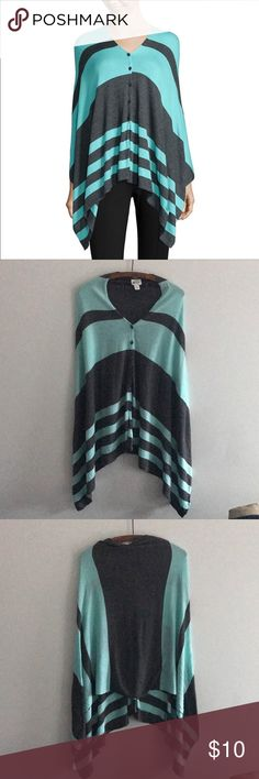 Poncho top Light weight and soft. Great condition. Functioning buttons Sweaters