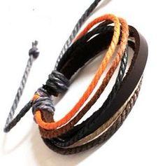 Adjustable multicolor  punk rock Bracelet Cuff by beautiful365, $5.00