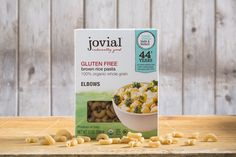 Shop online for Organic Gluten Free Brown Rice Elbows and other products at Jovial Foods today! Brown Rice Pasta, Brown Rice Flour, Organic Brown Rice, Calories A Day, Gluten Free Pasta, Saturated Fat, Serving Size, Nutrition, Store