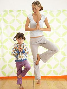 Yoga for all ages, great physical exercise and bonding for mom and kids