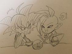 Kawaiiii Black and Zamasu *^* Zamasu Fusion, Zamasu Black, Black Goku, Dbz, Fandoms, Dragon Ball Z, Anime, Geek Stuff, Kawaii