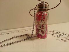 Zo gaaf herinneringen flesje met naam te gebruiken aan een ketting!!! ! BlitZZ4kidZ it is!