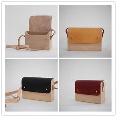 https://www.etsy.com/listing/188171477/handmade-minimalist-wood-leather? NAME: Handmade Minimalist Wood & Leather Shoulder Bag etf2002 MATERIAL: vegetable tanned upper leather, German beech SIZE: external 22*15*6cm, inner 20*13*4cm, the thickness of the wood 0.7cm COLOR: primary color, wine, black, golden brown