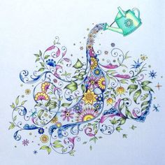 Johanna Basford Enchanted Forest Coloring Deer Coloured By Esther