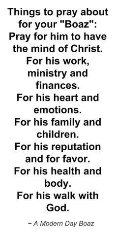 Prayers for my man...