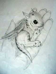 Baby dragon sketch