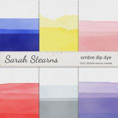 Ombre Dip Dye Paper Pack via @Etsy