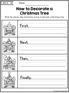 1st Grade Writing, Kindergarten Writing, Writing Activities, Kindergarten Christmas, Procedural Writing, Narrative Writing, Christmas Writing, Christmas Ideas, Cool Writing