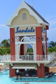 Swim-up Bar  - Sandals Grande Riviera Beach & Villa Golf Resort - #Ocho #Rios, #Jamaica #Sandals #Destination #Wedding #Travel #Pool #Bar