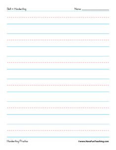 Use this Fine Motor Skills Practice Worksheet to practice fine motor skills, handwriting skills, drawing skills, and how to hold and grasp a pencil. Handwriting Practice Worksheets, Teaching Handwriting, Nice Handwriting, Kids Writing, Writing Skills, Writing Paper, Kindergarten Writing, Digraphs Worksheets, Blends Worksheets