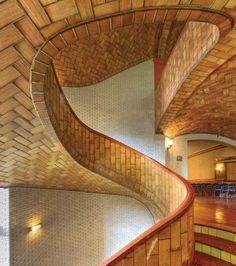 """2012_11_12_images_10_guastavini::""""There is a special spiral staircase in Baker Hall, at my alma mater, Carnegie-Mellon University (CMU), built with nothing but layered thin Terra-cotta tiles, as a variation of timbrel vault type of construction."""""""