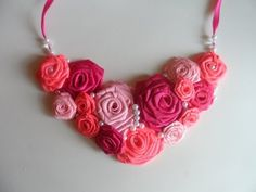 Мастер класс : Ожерелье с Розами / Master class : Necklace with Roses - YouTube