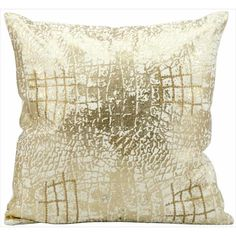 kathy ireland Metallic Snake Skin Gold Throw Pillow (18-inch x 18-inch) by Nourison