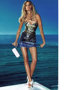 versace--this looks amazing: great scene, fit body, hot shoes, killer dress, sexy messy hair. What more could you want?